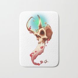 Horned Skull Bath Mat