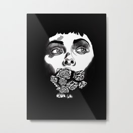 Mouthful of Flowers Metal Print