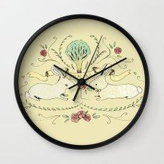 Spring Folk Art Wall Clock