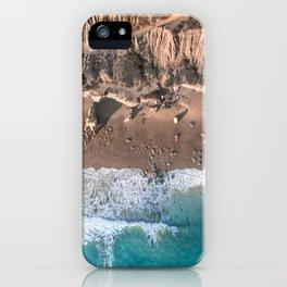 Aerial view of El Matador Beach in Malibu, CA iPhone Case
