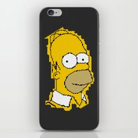 homer iPhone & iPod Skins featuring Homer Simpson by Osman SARGIN