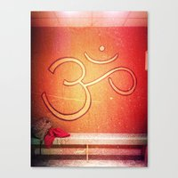 ohm Canvas Prints featuring ohm by melanielaurene