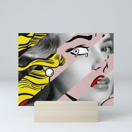 Roy Lichtenstein's Crying Girl & Grace K. Mini Art Print