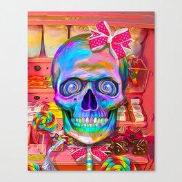 Candy Shop Skull Canvas Print