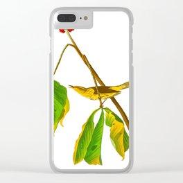 Louisiana Water Thrush Bird Clear iPhone Case