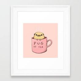 Pug of Tea Framed Art Print