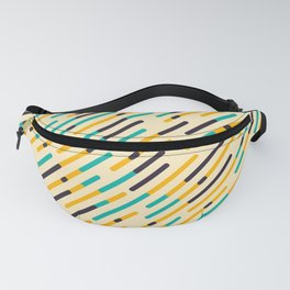 Retro Rounded Diagonal Stripes Fanny Pack