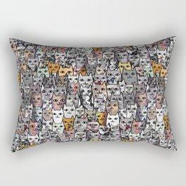 Gemstone Cats - Gold Rectangular Pillow