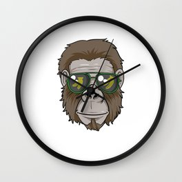 Cool Gorilla with glasses Wall Clock