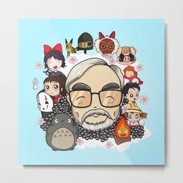 Ghibli, Hayao Miyazaki and friends Metal Print