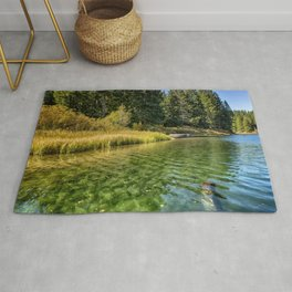 Jewel Like Tones of Clear Lake Rug