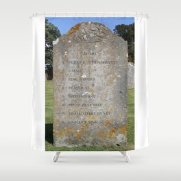 Grave 08 Shower Curtain