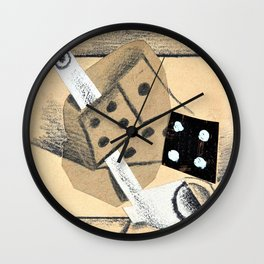 Pablo Picasso - Still life with pipe and dice - Digital Remastered Edition Wall Clock