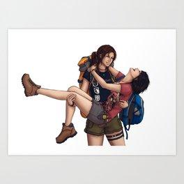 Lara and Sam's Adventures Art Print