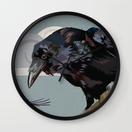 Invasion of the Crows Wall Clock