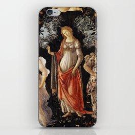 La Primavera - Allegory Of Spring - Sandro Botticelli iPhone Skin