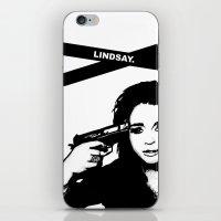 lindsay lohan iPhone & iPod Skins featuring Lindsay Lohan. by 161926