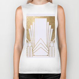 Art Deco design - blonde Biker Tank
