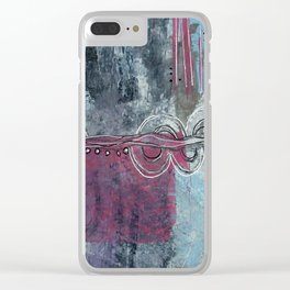 Twists and Turns Abstract Clear iPhone Case