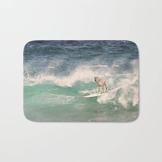 NEVER STOP EXPLORING - SURFING HAWAII Bath Mat