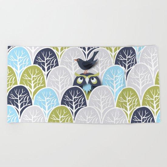 Forest Owl No. 2 Beach Towel