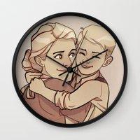 steve rogers Wall Clocks featuring Sarah Rogers by Kelslk