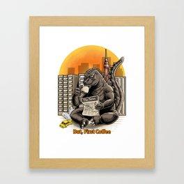 Coffeezilla Framed Art Print
