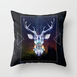 Spirit of the Deer Throw Pillow
