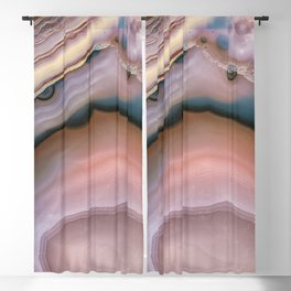 Pink and Blue agate 0425 Blackout Curtain