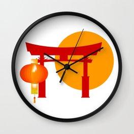 Tori Gate Icon Wall Clock