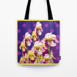 Iris Garden In Shades Of Purple Tote Bag