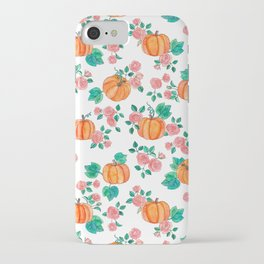 Pumpkins and Roses iPhone Case