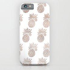 Rose gold pineapples iPhone 6 Slim Case