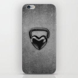 Kettlebell heart / 3D render of heavy heart shaped kettlebell iPhone Skin
