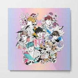BTS Members -Love Yourself Metal Print
