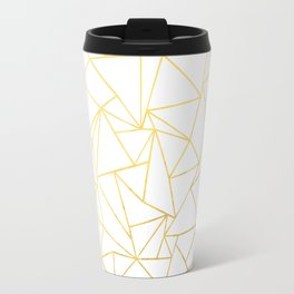 Ab Outline White Gold Travel Mug