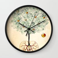 tree of life Wall Clocks featuring Life Tree by Paula Belle Flores