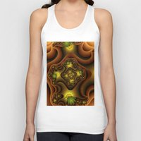 insects Tank Tops featuring Abstract Insects, Fantasy Fractal by gabiw Art