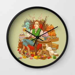 Gelatin God: Hydrocolloid Pantheon Wall Clock