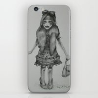 girly iPhone & iPod Skins featuring Girly by Matte Black