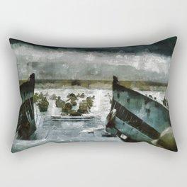 D Day Landings, WWII Rectangular Pillow