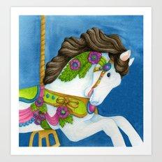 Carousel Horse - Gayle Art Print