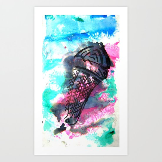 ice cream on the go Art Print