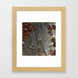 Copper and Pearls Framed Art Print