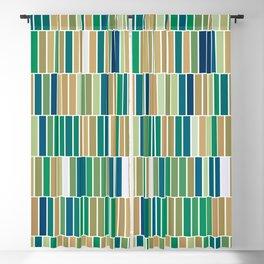 Bookshelves, abstract illustration of vertical bars Blackout Curtain