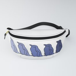 Waddle of Penguins in Blue Tones Fanny Pack