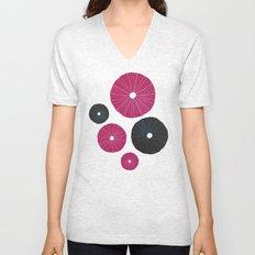 Sea's Design - Urchin Skeleton (Pink & Black) Unisex V-Neck