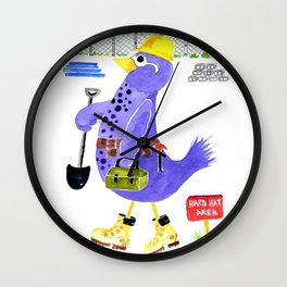Construction Bird Wall Clock