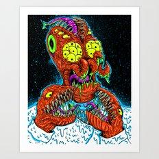 MONSTER CRAB Art Print