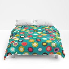 turquoise pop spot Comforters